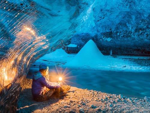 冰岛蓝冰洞极光11天
